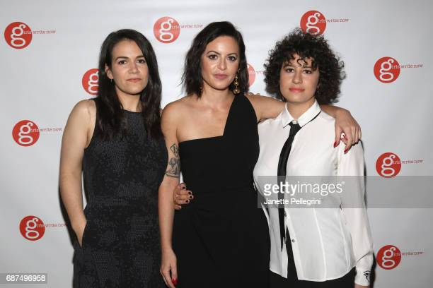Girls Write Now Honorees Abbi Jacobson Sophia Amoruso and Ilana Glazer attend the Fifth Annual Girls Write Now Awards at City Winery on May 23 2017...