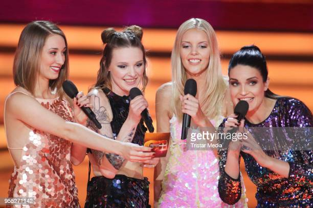 Girlsband Lichtblick during the tv show 'Willkommen bei Carmen Nebel' at SachsenArena on May 5 2018 in Riesa Germany