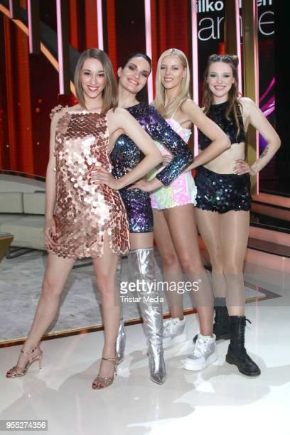 Girlsgroup Lichtblick during the tv show 'Willkommen bei Carmen Nebel' at SachsenArena on May 5 2018 in Riesa Germany
