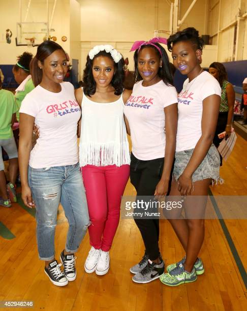 GirlTalk Takeover Founder Angela Simmons poses with event attendees during Girl Talk #Takeover at Boys Girls Club Of Jersey City on July 30 in Jersey...