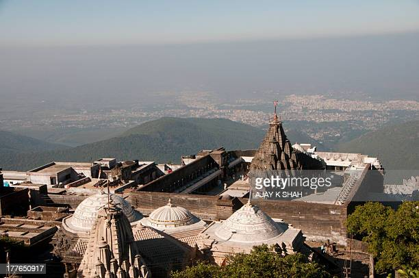 girnar jain temple - jain temple stock photos and pictures