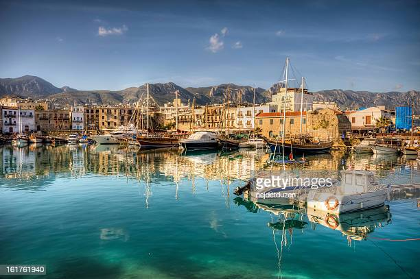 girne ( kyrenia ), north cyprus - cyprus island stock pictures, royalty-free photos & images
