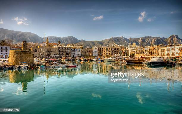 girne( kyrenia ), north cyprus - cyprus island stock pictures, royalty-free photos & images