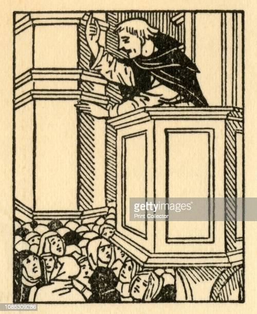 Girolamo Savonarola' Italian political and religious reformer Girolamo Savonarola preaching in Florence A Dominican priest Savonarola preached...