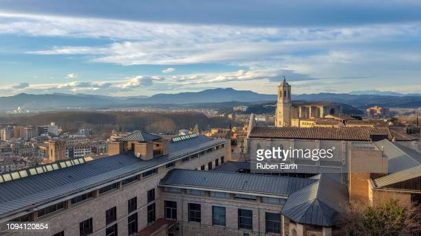 girona city and the university - gerona city stock pictures, royalty-free photos & images