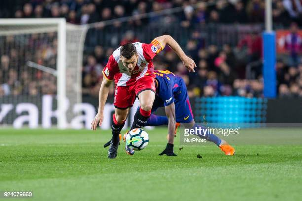 Girona midfielder Alex Granell during the match between FC Barcelona vs Girona for the round 25 of the Liga Santander played at Camp Nou Stadium on...