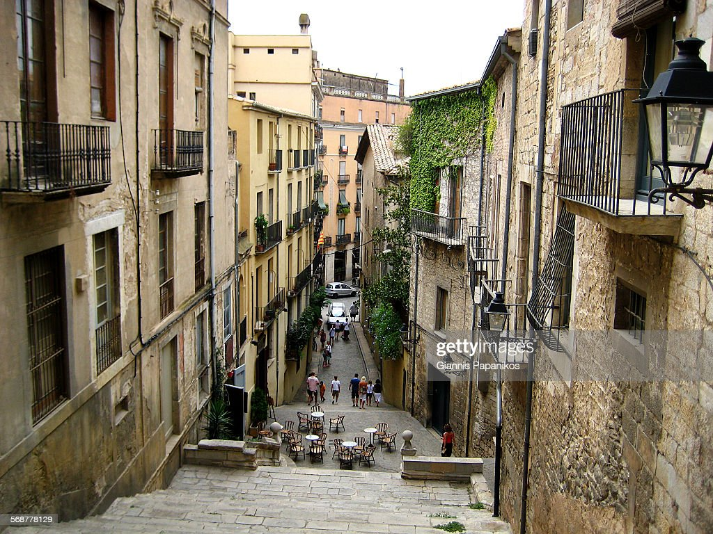Girona Old Town : Stock Photo
