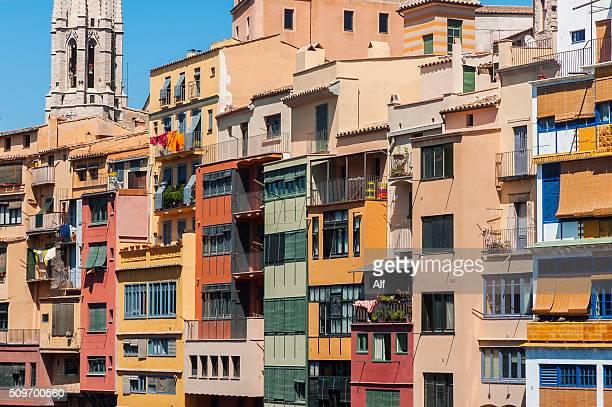 Girona, river facade Onyar