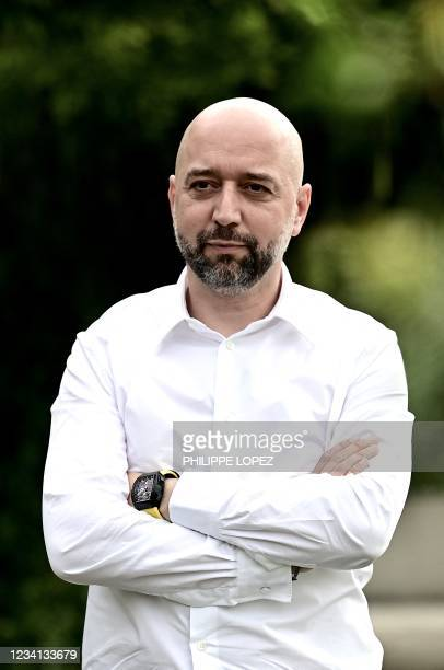 Girondins de Bordeaux football club's new president Gerard Lopez poses after a press conference at the club's training ground in Le Haillan, near...