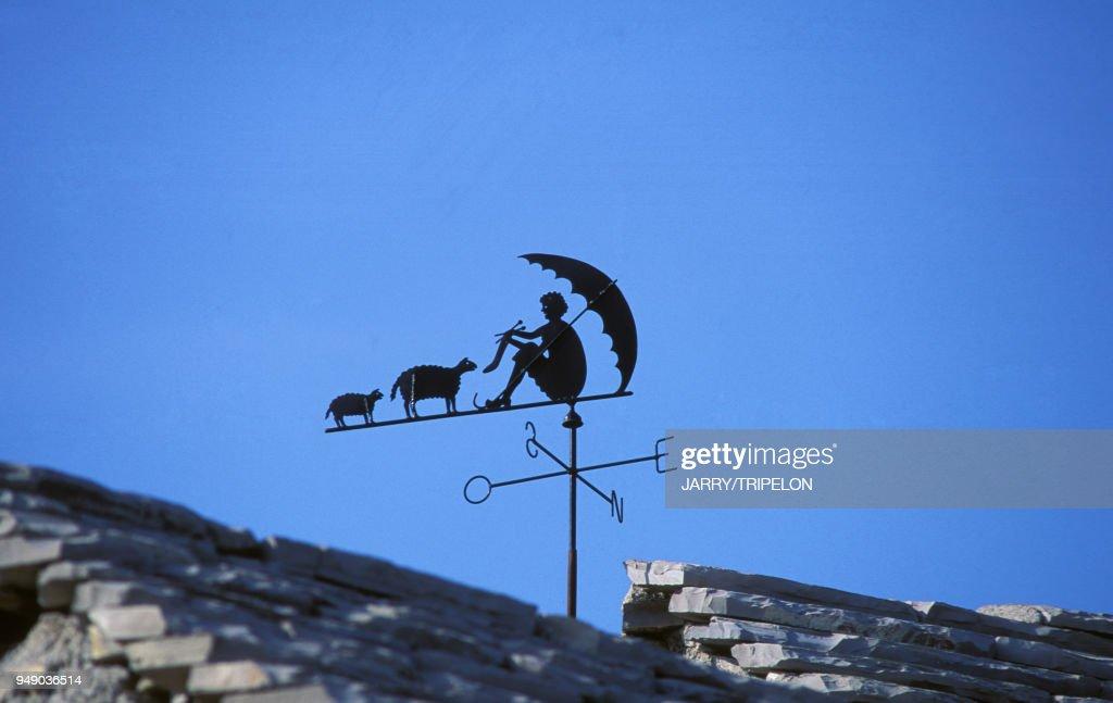 Beau Girouette Sur Le Toit Du0027une Maison à La Roque Sainte Marguerite :