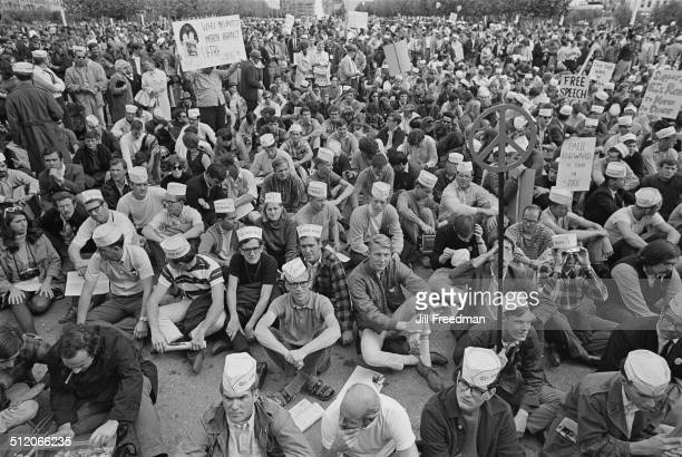 GIs For Peace at a peace demonstration during the Vietnam War USA 1968
