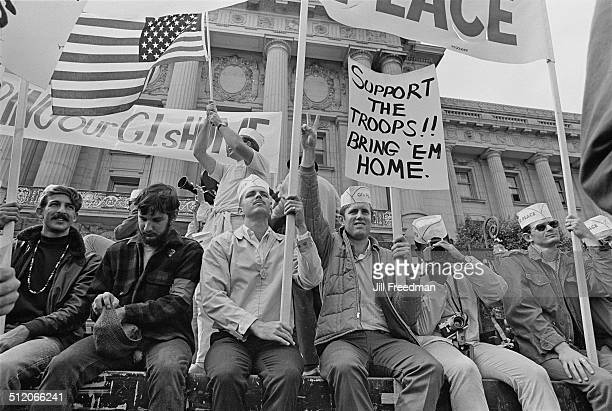 GIs For Peace demand the return of US troops during the Vietnam War USA 1968