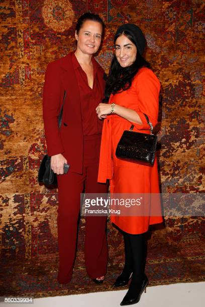 Gisa Narracott and Gesine Gold attend the Jan Kath Showroom Opening on October 11 2017 in Hamburg Germany