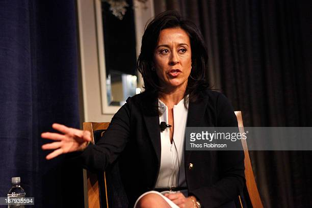 Gisel Ruiz executive vice president chief operating officer of Walmart USA and medal of honor recipient attends the USO Woman Of The Year Luncheon at...