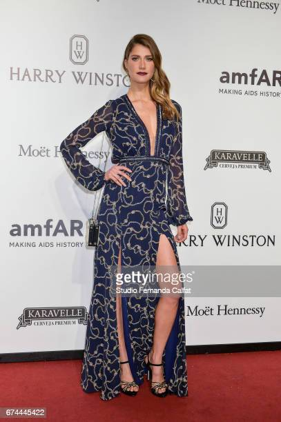 Gisela Heinz attends the 7th Annual amfAR Inspiration Gala on April 27 2017 in Sao Paulo Brazil