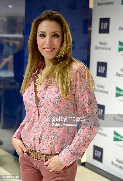 Gisela Llado poses during a photocall for GAP Space Inauguration at the El Corte Ingles store in Plaza Catalunya on March 11 2015 in Barcelona Spain