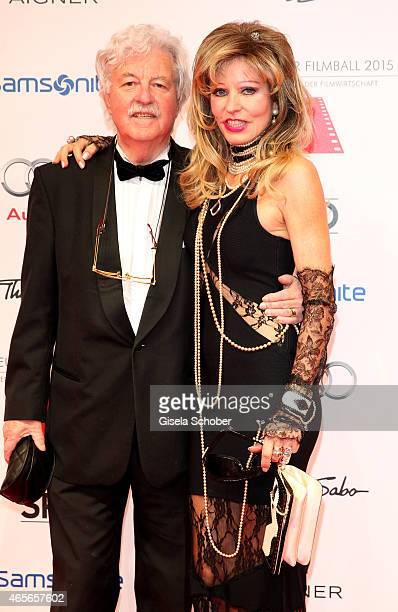 Gisela Muth and her husband Hans Georg Muth during the German Filmball 2015 at Hotel Bayerischer Hof on January 17, 2015 in Munich, Germany.