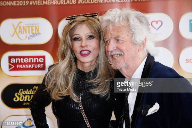 Gisela Muth and her husband Hans Georg Muth during the Goldene Sonne Award 2019 on April 27, 2019 in Kalkar, Germany.