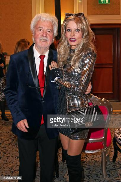 Gisela Muth and her husband HansGeorg Muth attend the Julian FM Stoeckel Public Viewing Party For 'Ich bin ein Star Holt mich hier raus' at Hotel...