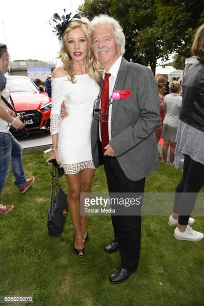 Gisela Muth and her husband HansGeorg Muth during the Audi Ascot Race Day 2017 on August 20 2017 in Hanover Germany
