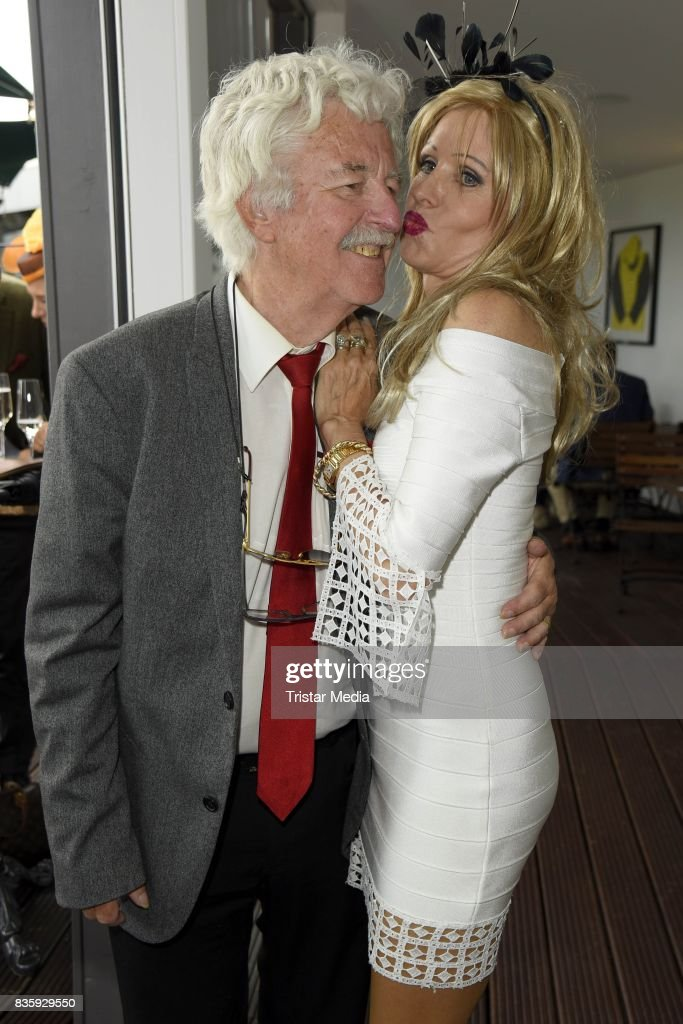 Gisela Muth and her husband Hans-Georg Muth during the Audi Ascot Race Day (Renntag) 2017 on August 20, 2017 in Hanover, Germany.