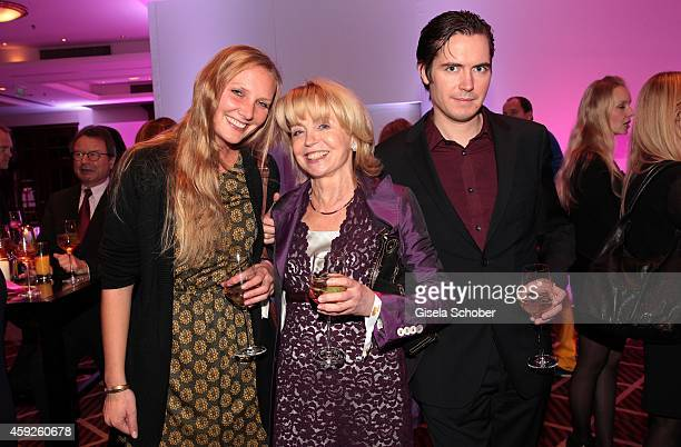 Gisela Schneeberger and her son Philipp and her daughterinlaw Martina during the Video Entertainment Award 2014 on November 19 2014 at Hotel Westin...