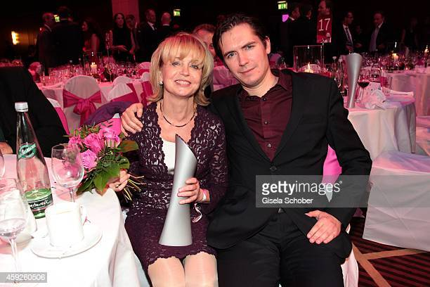 Gisela Schneeberger and her son Philipp during the Video Entertainment Award 2014 on November 19 2014 at Hotel Westin Grand in Munich Germany
