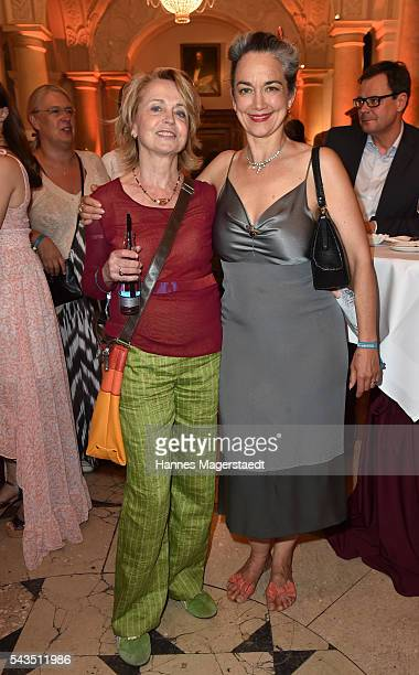 Gisela Schneeberger and Irina Wanka and Wolfgang Stumpf during the Bavaria Film reception during the Munich Film Festival 2016 at Kuenstlerhaus am...