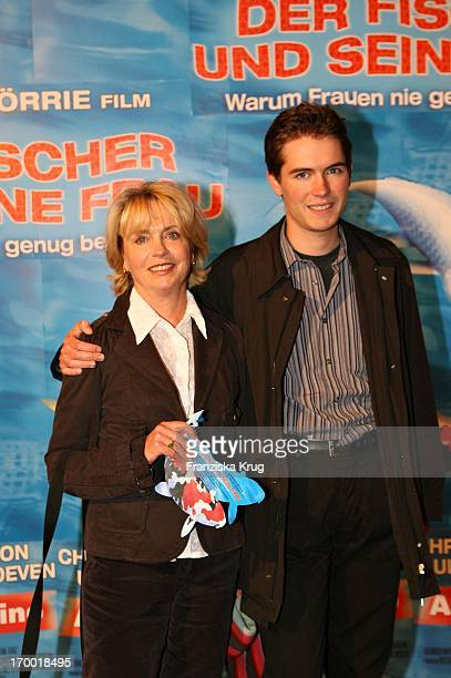 Gisela Schneeberger With Her Son Philipp Müller At The Premiere Of The Fisherman And His Wife In Mathäser cinema in Munich