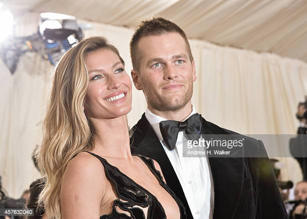 Gisele Bndchen and Tom Brady attend the 'Charles James Beyond Fashion' Costume Institute Gala at the Metropolitan Museum of Art on May 5 2014 in New...