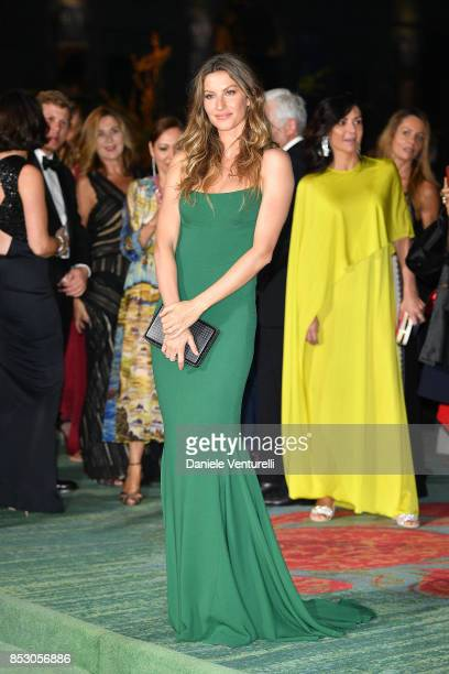 Gisele Bündchen attends the Green Carpet Fashion Awards Italia 2017 during Milan Fashion Week Spring/Summer 2018 on September 24 2017 in Milan Italy