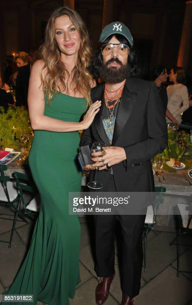 Gisele Bundchen and Alessandro Michele Gucci Creative Director attend a private dinner hosted by Livia Firth following the Green Carpet Fashion...