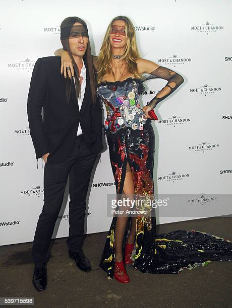 Gisele Bundchen and Alexis Roche attend the Moet Chandon Fashion Tribute recognising those who have influenced the fashion world on an international...