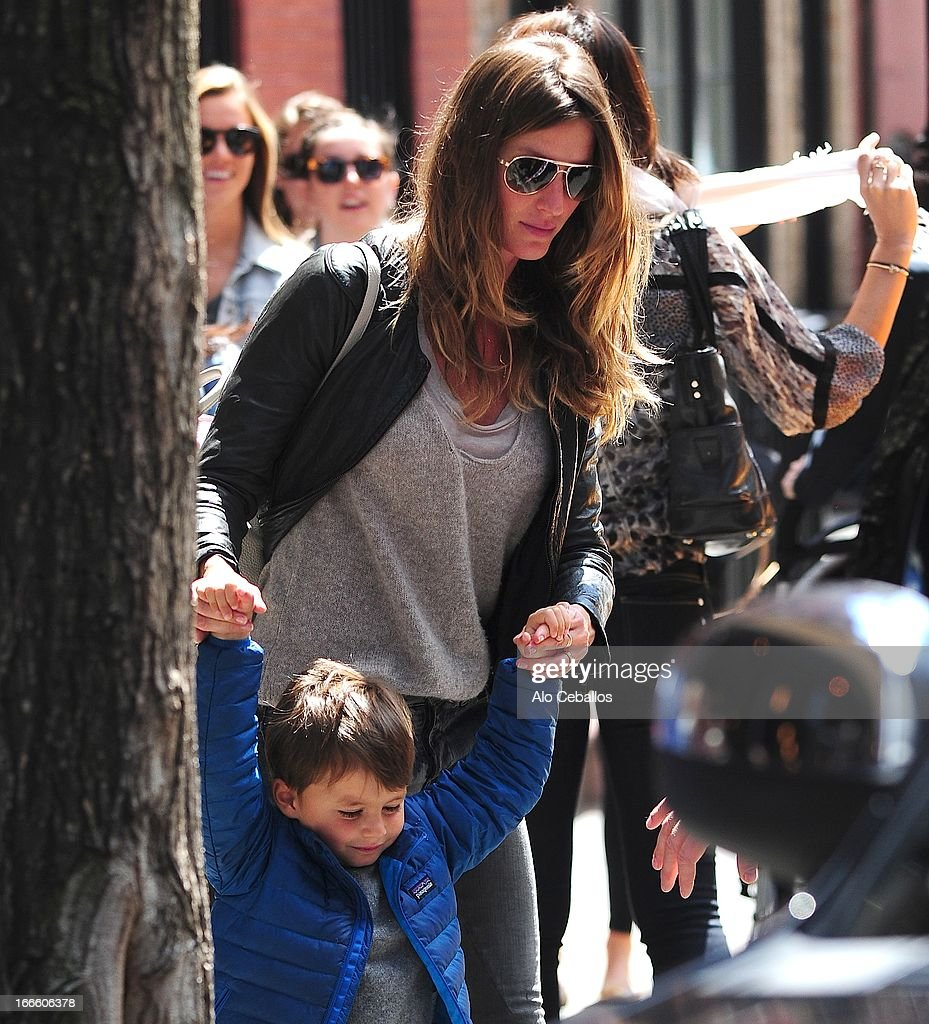 Gisele Bundchen and Benjamin Brady are seen in the West