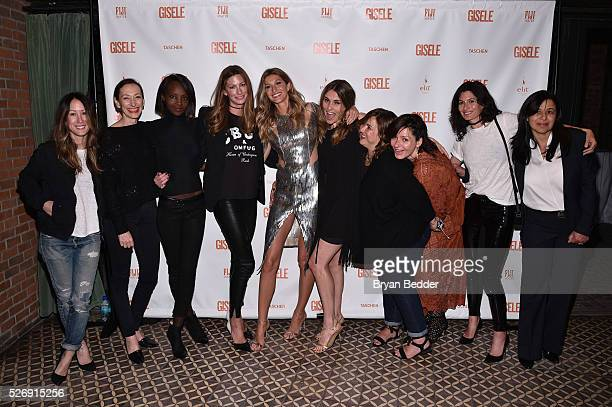Gisele Bundchen and friends attend her Spring Fling book launch on April 30 2016 in New York City