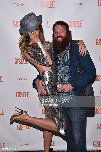 Gisele Bundchen and hair stylist attend the Gisele Bundchen Spring Fling book launch on April 30 2016 in New York City