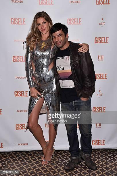 Gisele Bundchen and hairstylist Harry Josh attend the Gisele Bundchen Spring Fling book launch on April 30 2016 in New York City
