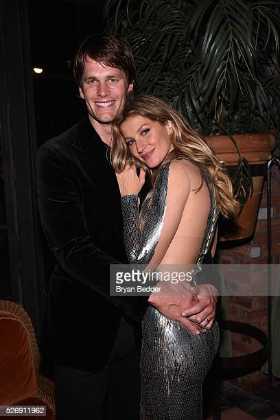 Gisele Bundchen and husband Tom Brady attend her Spring Fling book launch on April 30 2016 in New York City