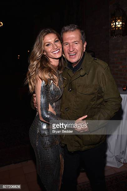 Gisele Bundchen and photographer Mario Testino attend the Gisele Bundchen Spring Fling book launch on April 30 2016 in New York City