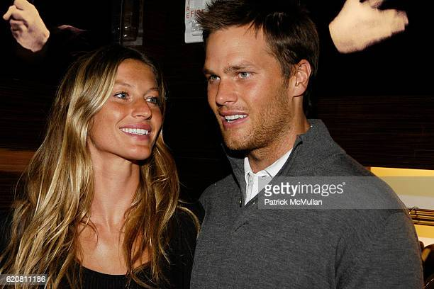 Gisele Bundchen and Tom Brady attend ERMENEGILDO ZEGNA Store Opening Cocktail Party For The Robin Hood Foundation at Ermenegildo Zegna Store 5th Ave...