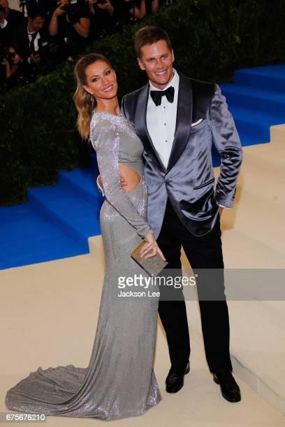 Gisele Bundchen and Tom Brady attend Rei Kawakubo/Comme des Garçons' Costume Institute Gala at Metropolitan Museum of Art on May 1 2017 in New York...