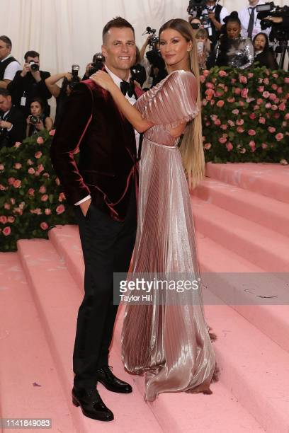"""Gisele Bundchen and Tom Brady attend the 2019 Met Gala celebrating """"Camp: Notes on Fashion"""" at The Metropolitan Museum of Art on May 6, 2019 in New..."""