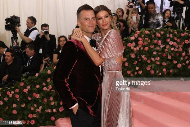 Gisele Bundchen and Tom Brady attend the 2019 Met Gala celebrating Camp Notes on Fashion at The Metropolitan Museum of Art on May 6 2019 in New York...