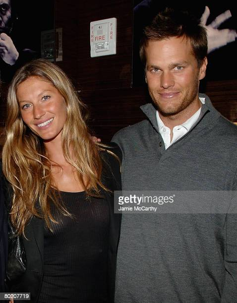 Gisele Bundchen and Tom Brady attend the Ermenegildo Zegna Store Opening on 5th Ave and 52nd Street in New York on March 112008