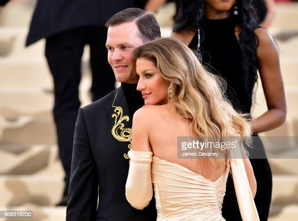 Gisele Bundchen and Tom Brady attend the Heavenly Bodies Fashion The Catholic Imagination Costume Institute Gala at The Metropolitan Museum of Art on...