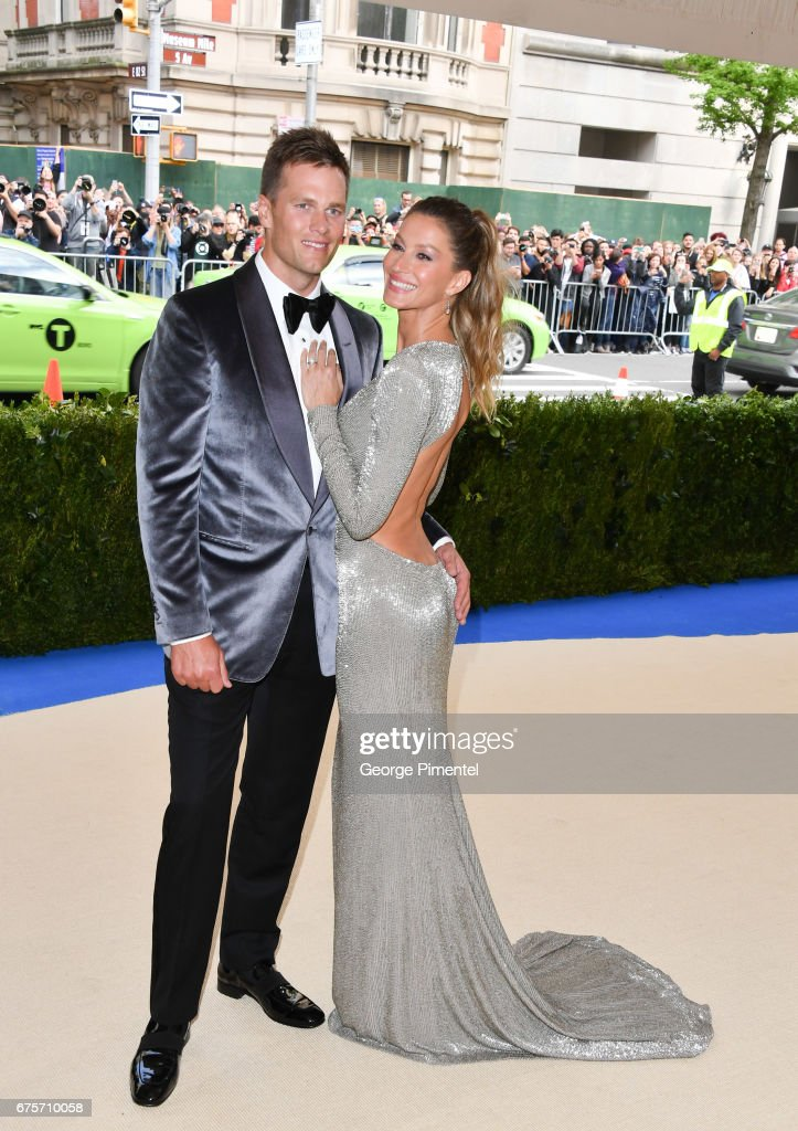 Gisele Bundchen (L) and Tom Brady attend the 'Rei Kawakubo/Comme des Garcons: Art Of The In-Between' Costume Institute Gala at Metropolitan Museum of Art on May 1, 2017 in New York City.