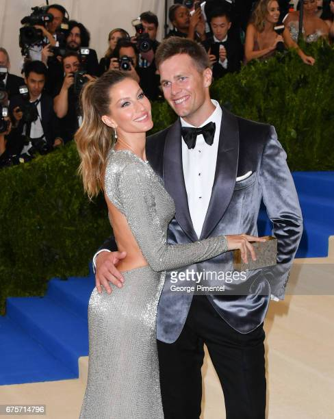 Gisele Bundchen and Tom Brady attend the 'Rei Kawakubo/Comme des Garcons Art Of The InBetween' Costume Institute Gala at Metropolitan Museum of Art...