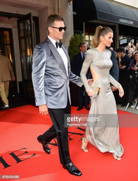 Gisele Bundchen and Tom Brady attend the 'Rei Kawakubo/Comme des Garcons Art Of The InBetween' Costume Institute Gala at Metropolitan Museum of Art...