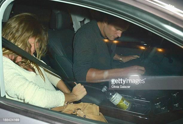 Gisele Bundchen and Tom Brady leaves at Prime 112 Steakhouse on November 3, 2012 in Miami Beach, Florida.