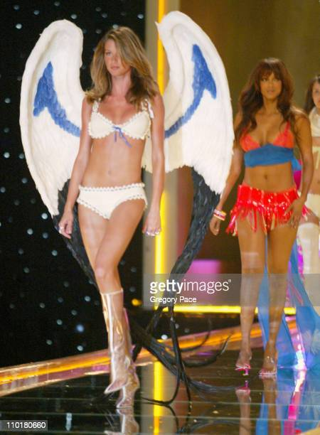 Gisele Bundchen and Tyra Banks during The 8th Annual Victoria's Secret Fashion Show - Runway at Lexington Avenue Armory in New York City, New York,...